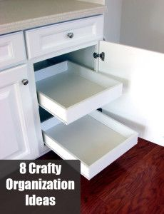 8 Crafty organization ideas to try- I desperately need to try a few of these.