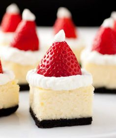 Santa hat cheesecake bites... and five other Santa treats that are ALMOST too cute to eat