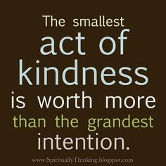 act of kindness...