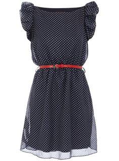 Dorothy Perkins  Navy polka dot dress
