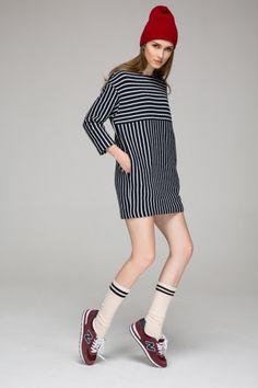 #fall #fashion #stripes #dress