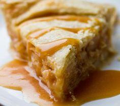 Caramel Apple Pie. (Vegan. Free of: wheat, gluten, dairy, egg. Optionally free of corn.)