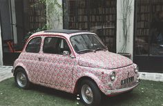 my dream car - fiat 500 covered in liberty print