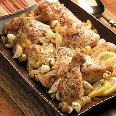 Slow Cooker Garlic Clove Chicken Recipe from Taste of Home -- shared by Ruth Rigoni of Hurley, Wisconsin