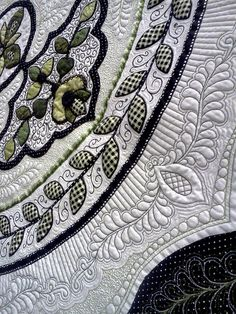 Beautiful quilting. Black & white colors