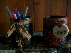 Jar Craft! Upcycling Jars into Country Primitive Decor!