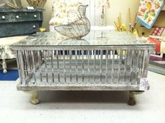 Vintage Chicken Crate Coop Coffee Table by MissTuna