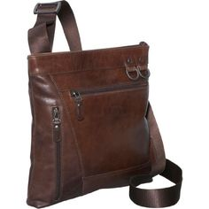 Dr. Koffer Leather Zip-Pocket Shoulder Bag