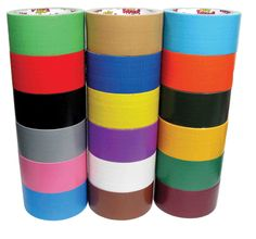 use different colored duct tape to pack moving boxes to keep them organized.