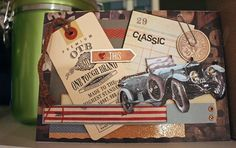 Classic car - Scrapbook.com- vintage car themed card great for fathers or grandfathers