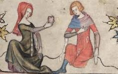 costumes, fashion, heart, furs, romances, 14th centuri, middl age, 14th century, hood