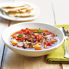 Healthy Summer Recipes _ Summer Stew - I never think of stew when it's hot out. Fire-roasted tomatoes are fabulous. #BHGSummer