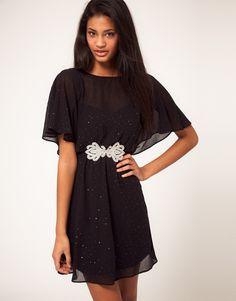 ASOS Skater Dress with Embellished Waist