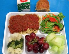 Whole Wheat Spaghetti with Homemade Marinara from Provo Schools in Utah.