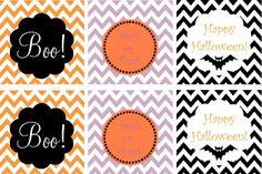 Chevron Halloween tags #14