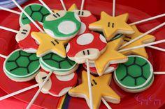 Mario party cookie pops