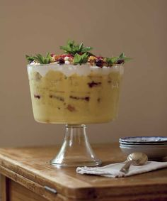 Need a dessert recipe that's as easy as it is beautiful? Try our recipe for Easy English Trifle  Photo Credit: Matt Kalinowski #dessert desserts, matt kalinowski, foods, kalinowski dessert, dessert recipes, easi english, english fare, english trifl, christma recipi