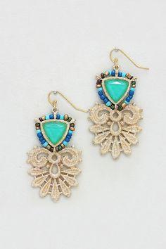 Ella earrings in turquoise mint @Emma Stine Limited