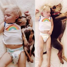 2 Months Later, This Toddler Is Still Napping With His Puppy
