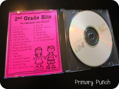 year student, classroom, class song, gift ideas, year gift, end of year songs, primari punch, playlists, student gifts