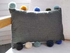 Pom pom pillow from @meg