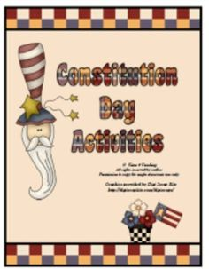 September 17 is Constitution Day. This Constitution Day Activity Pack is a great way to teach your students all about the U.S. Constitution! $