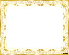 Free Gold Frame Template and light  background color