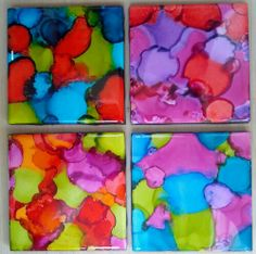 Alcohol ink coasters and How-To