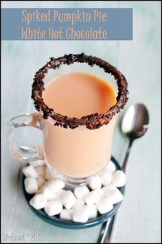 chocolate chips, hot pumpkin drinks, white hot, white chocolate, hot chocolate recipes, pie recipes, pie white, pumpkin pies, spike pumpkin