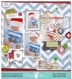 Inspiration for Christmas scrapbooking
