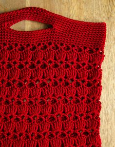 Shopping bag crochet pattern
