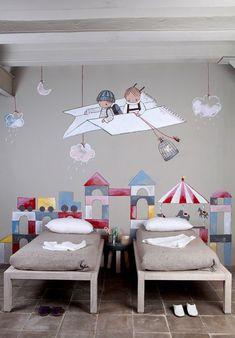 children's room, wall art, greys, simple  modern #kids #decor