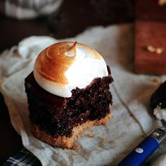 S'mores Cupcakes. Bring out the torch!