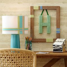 diy ideas, craft, frame, letter, monogram, diy wall art, baker, art projects, christmas gifts