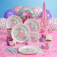pink poodle party decor