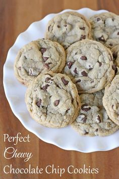Chewy Chocolate Chip Cookies from @Elizabeth Lockhart Kennedy Treats