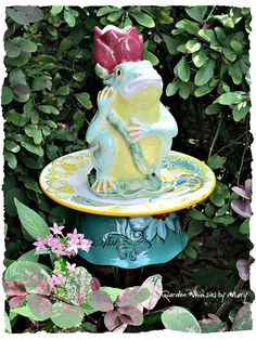 Frog Garden Totem Stake  As Featured in by GardenWhimsiesByMary, $38.00