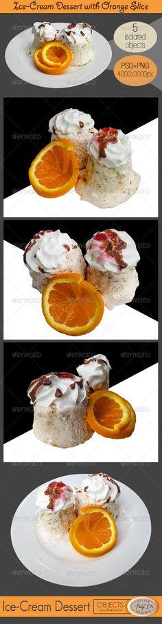 Ice-Cream Dessert with Orange Slice
