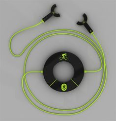 Problem most of today's headphones are designed to filter out background noise. That's not very safe for a bicyclists since hearing what's coming is important. The Semicircle headphones are designed to fit in your ear without blocking background noise.