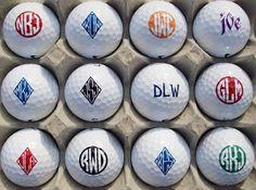 Monogrammed golf balls