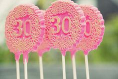 30th chocolate pops