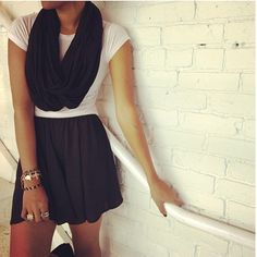 Recently just discovered the store, Pac Sun! Found an adorable black skirt in Pac Sun from Brandy Melville.