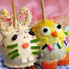 Savannah Candy Kitchen...Easter candy apples. Very cute. easter candy, cover appl, chocolates, appl decor, chocolate covered, candies, appl idea, apples, baskets