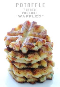 Potaffle: Some Waffles made from potatoes mixture