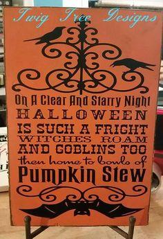 Pumpkin Stew sign - 12  x18