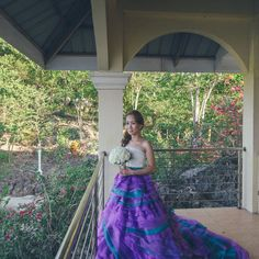 Dogs of honor, a fabulous purple dress, and tons of family at this beach wedding in the Philippines