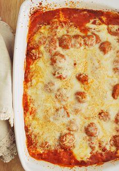 Easy Cheesy Meatball Lasagna