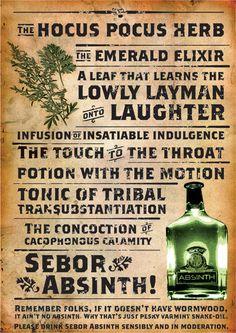 SEBOR Absinth - Print campaign