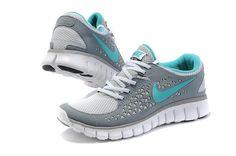 Women Nike Free 2012 Grey White Aqua