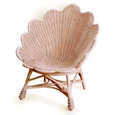 seashell inspired wicker chair